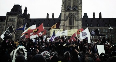 idle_no_more_parliament_banner