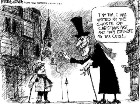 Scrooge Gets A Tax Cut