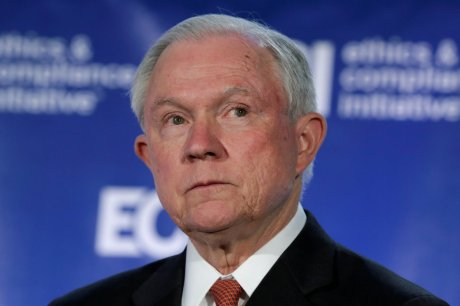 Attorney General Jeff Sessions speaks at the Ethics and Compliance Initiative